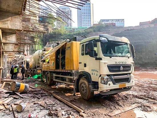 """388米超高层浇筑,徐工车载泵挑战""""山城""""新高度!"""