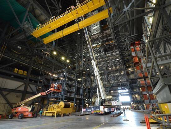 特雷克斯起重机助力美国航天设施拆卸