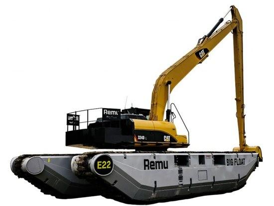 REMU推出适用于两栖挖掘机的新型底盘系统