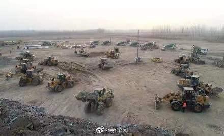 河北抗疫快报!近百台工程机械昼夜施工,石家庄速建集中隔离点