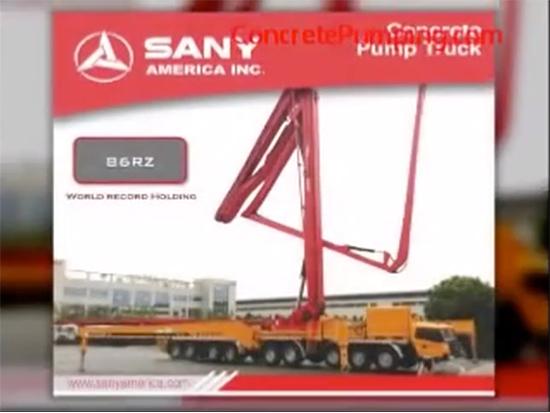 Sany 86M 泵车