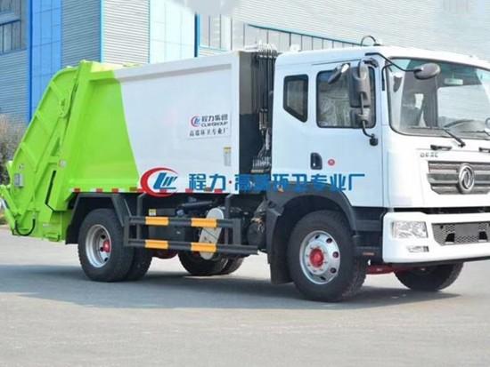 环卫垃圾车新品推荐--12方东风D9后装垃圾压缩车