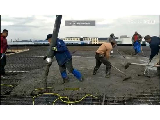 63米泵车青岛国际机场施工