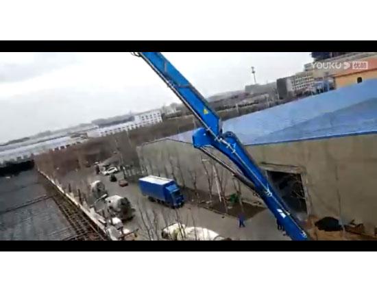 56米泵车施工视频