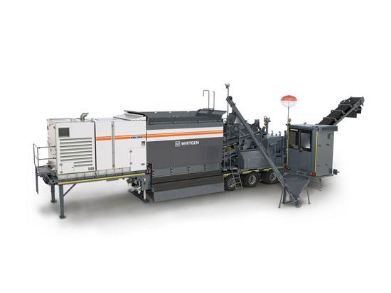 维特根新建的冷再生混合设备可在工作现场附近实现可持续再生