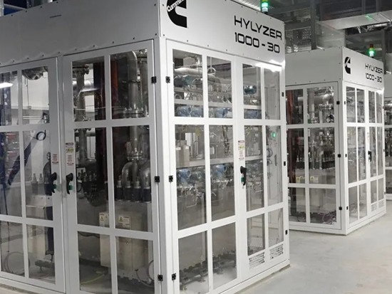 康明斯日产氢8.2吨,为全球最大PEM设备提供动力