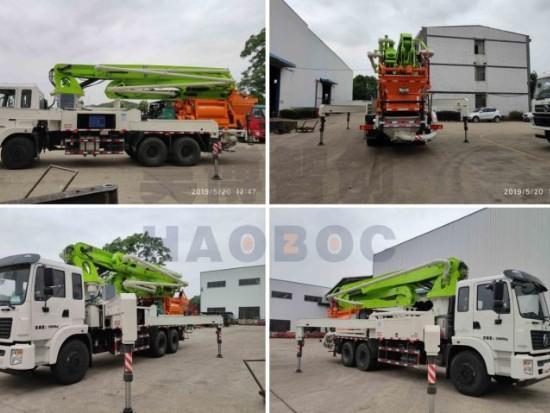 35米搅拌泵车发挥优势 助力新农村建设