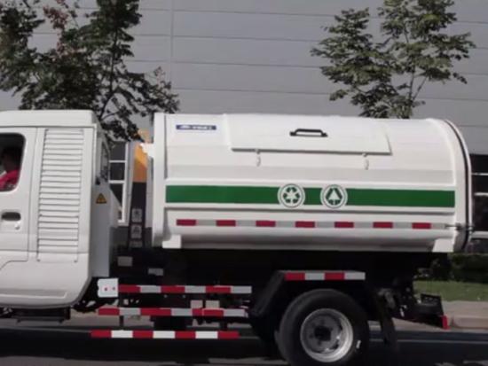 宇通环卫纯电动可卸式垃圾车