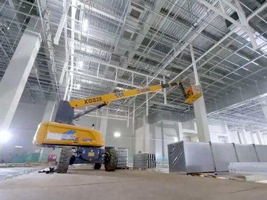 重庆京东方项目,百余台高空作业平台多区域数月持续作业