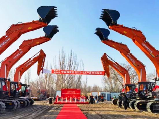 信赖促合作 日立建机交付6台ZX490LCH-5A大型液压挖掘机