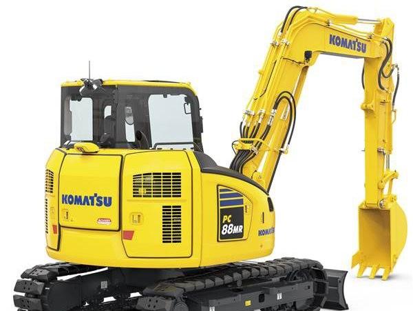 小松在欧洲推出新型小型挖掘机PC88MR-11