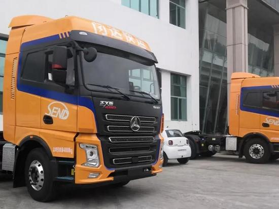 满满活力橙,20台三一重卡投放到中长途物流运输市场