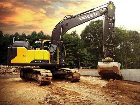 沃尔沃挖掘机将配备集成的Engcon倾斜旋转器