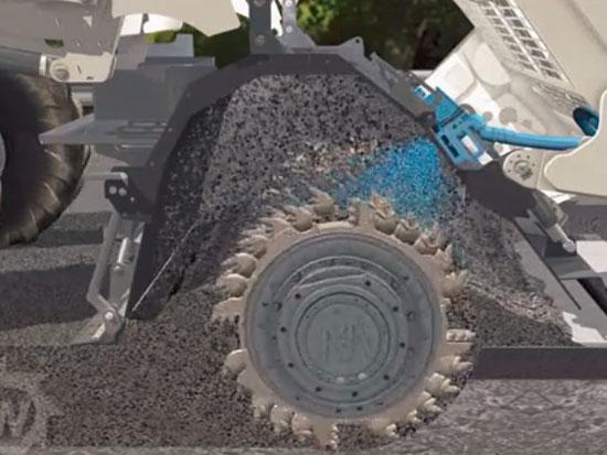 全厚式就地冷再生机施工工艺视频
