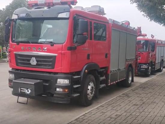 中国重汽汕德卡高端救援抢修专用消防车