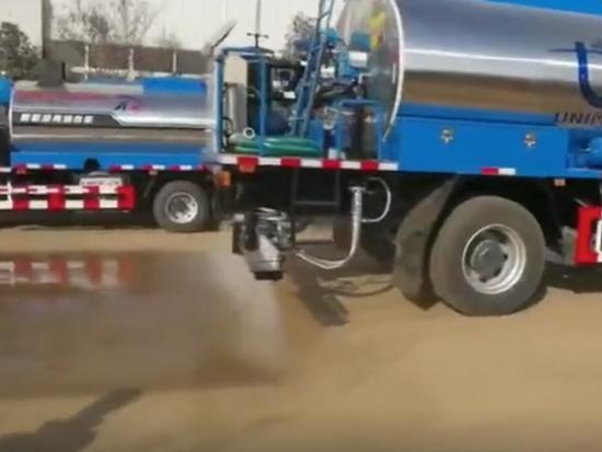 8吨重汽沥青洒布车试车视频