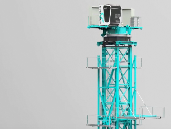 韩宇 EVERDIGM ED580L-24 变幅式塔吊起重机组装 3D动画演示