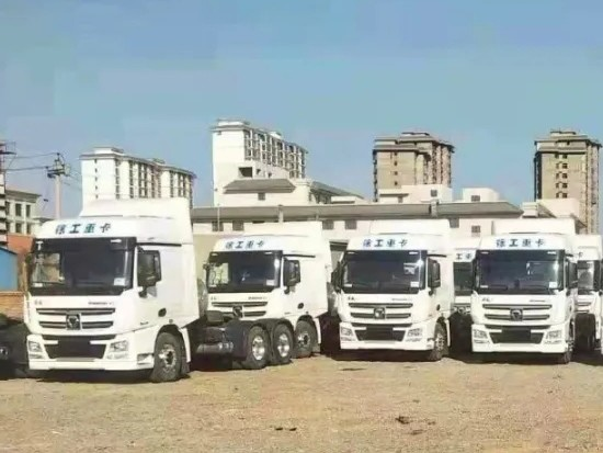 徐工重卡再获千万大单,百台汉风G7天然气牵引车交车!