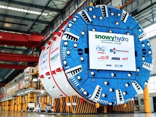 中鐵裝備出口澳大利亞大直徑硬巖掘進機今日順利始發