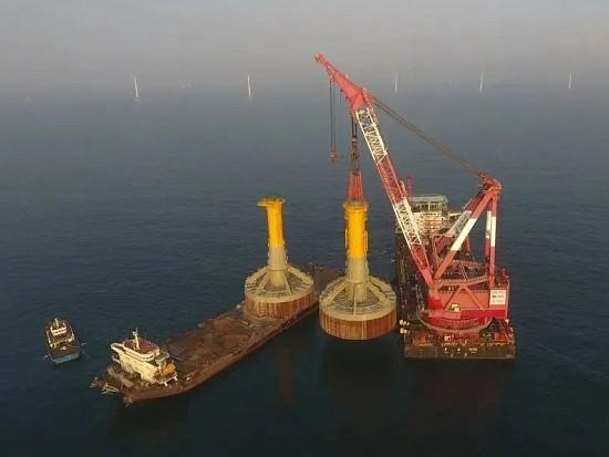 国内海上风电基础创新取得重大突破!单柱直径达10米、总重约2200吨!
