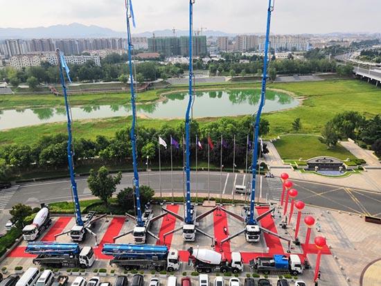 国六泵车终于等到了,九合重工国六混凝土设备发布会——国六混凝土设备发布会