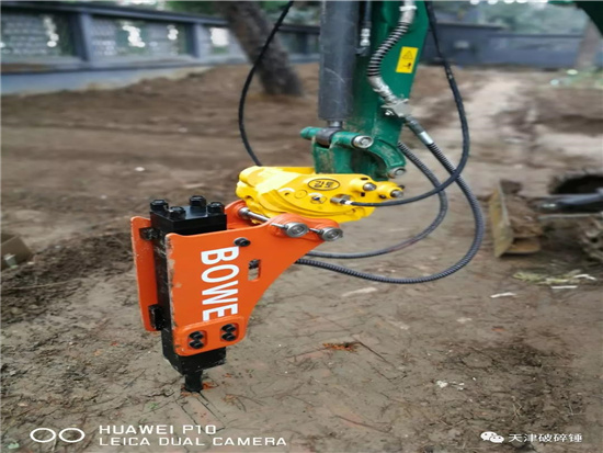 微型挖掘机破碎锤的使用经验