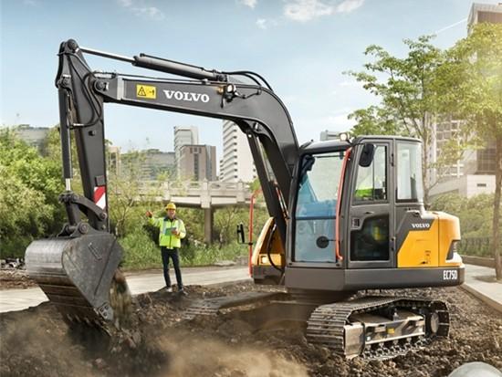 沃尔沃推出适用于中东和非洲市场的中型挖掘机EC75D
