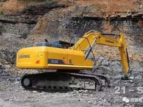 液压破碎领域之柳工933E挖掘机