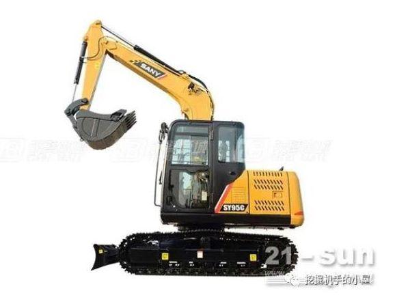 三一SY95C小型挖掘机有哪些特点呢?
