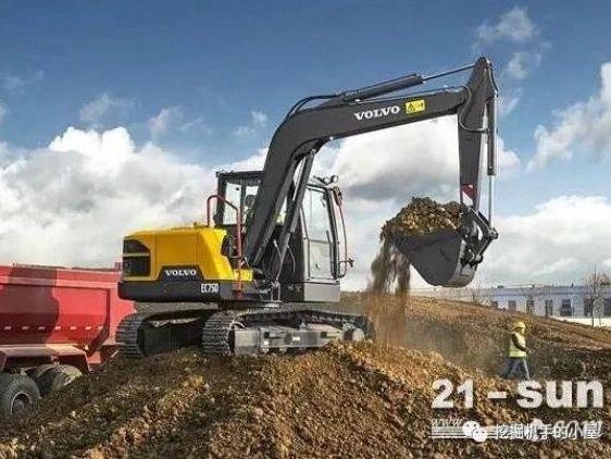 新一代打工人的选择:沃尔沃EC75D挖掘机!