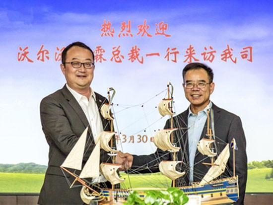 沃尔沃建筑设备中国销售大区总裁一行拜访华润水泥