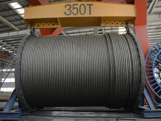 为2300吨自航式起重船专项研制,巨力索具10730米超长钢丝绳成功下线