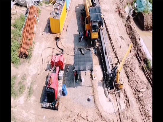 徐工XZ3600穿越小清河,南水北调工程全景