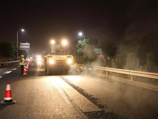 三一成套路面设备助力杭长高速提质改造工程
