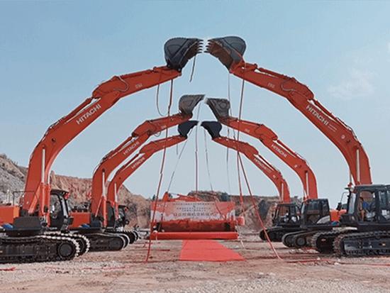 助阵大型水利工程 日立建机6台ZX490LCH-5A云南交付