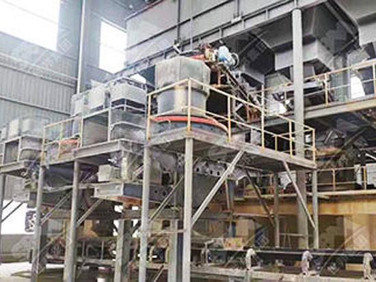 广西时产1000吨石灰石破碎制砂生产线