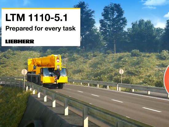 利勃海尔 Liebherr LTM 1110-5.1 轮式起重机动画演示