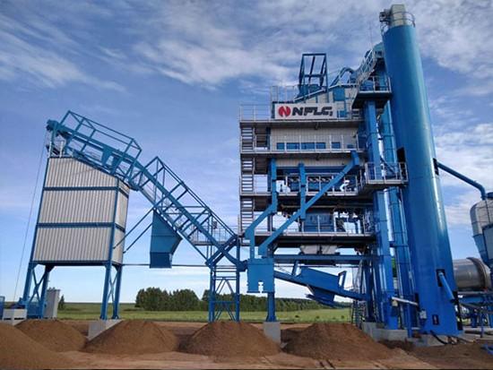 南方路机LB2000沥青混合料搅拌设备应用于俄罗斯喀山