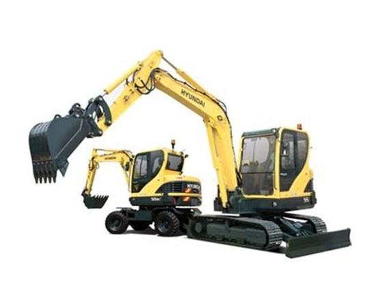 轮胎式挖掘机和履带挖掘机的区别