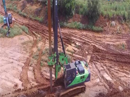 泰信机械(TYSIM)KR150旋挖钻机施工