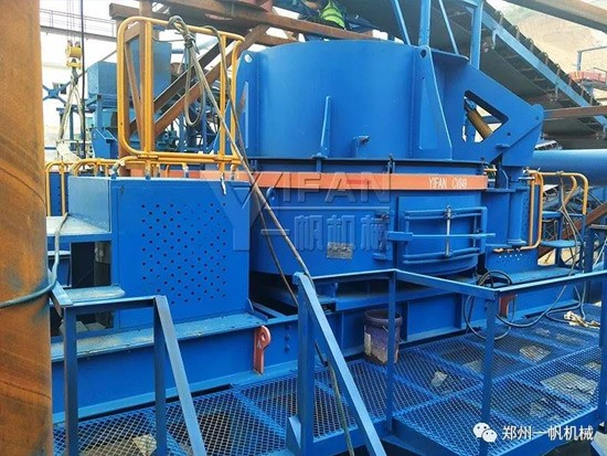 信阳玄武岩制砂生产线入驻江南北国 带来别样风采