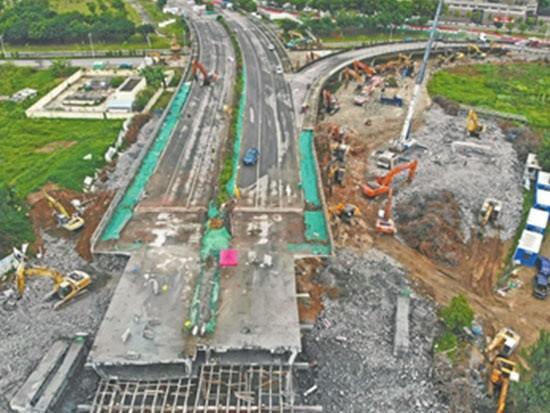 预计3天完成构件破碎落地 5月1日翠景道交通恢复正常