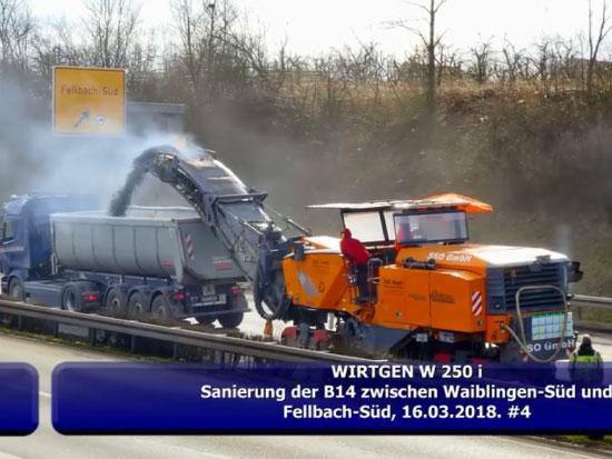 维特根 Wirtgen W250i 沥青铣刨机作业