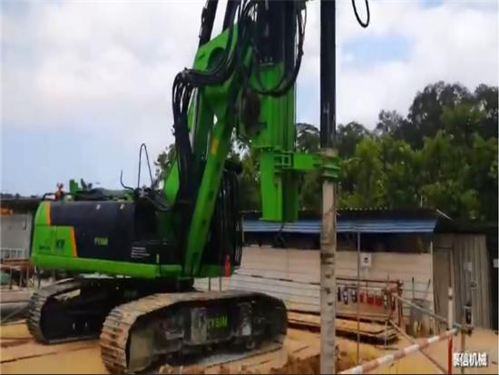 泰信机械KR220M多功能旋挖钻,新加坡搅拌桩功法施工