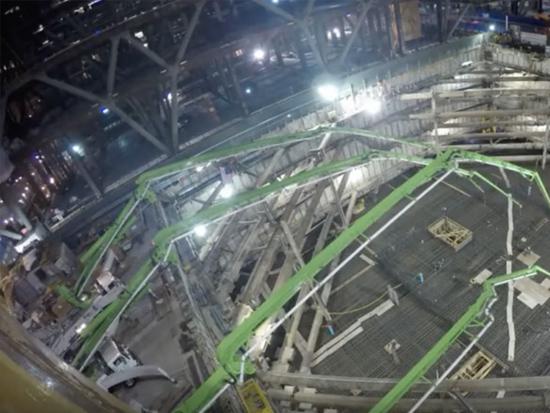 螳螂腿再现!16小时连续浇筑12000方混凝土!
