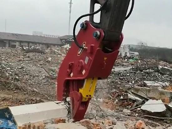 巴彦淖尔建筑垃圾快速破碎剪挖机液压钳多功能粉碎钳