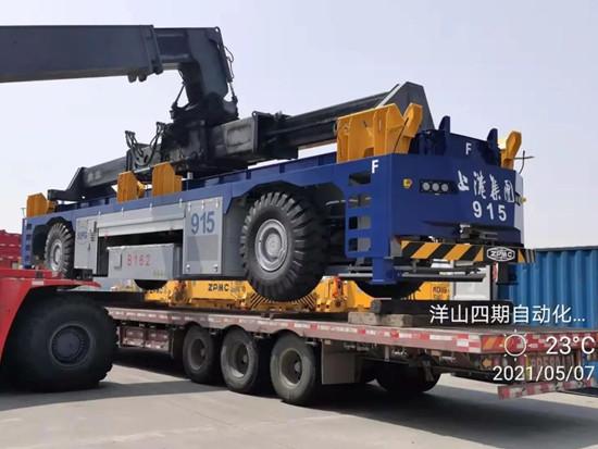 ZPMC25台AGV发运上海洋山四期自动化码头