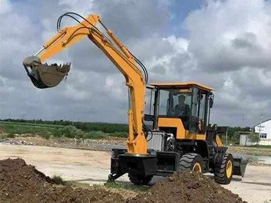 挖掘机小臂回收有时动作慢故障