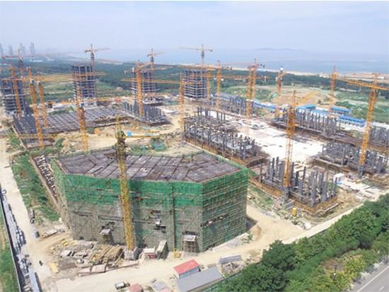 蓬莱市建筑工程使用塔式起重机施工
