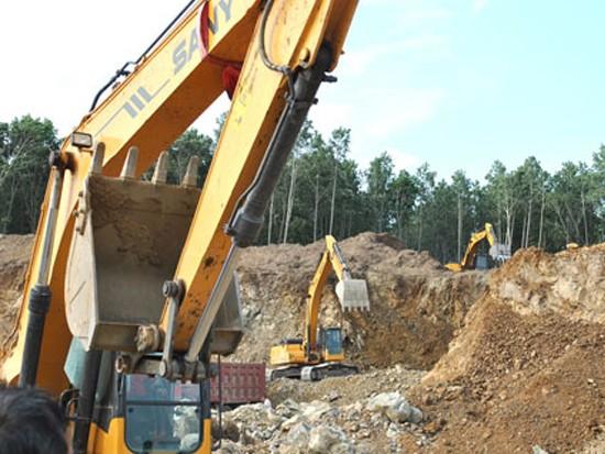 三一挖机参与宝清八五二农场施工案例